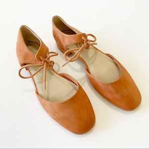 Seychelles Anthropologie Coral Suede Prospect Flat